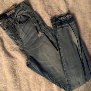 Aeropostale Distressed High-Waisted Jeggings